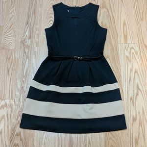 Iz Byer Dresses - Tan and black dress